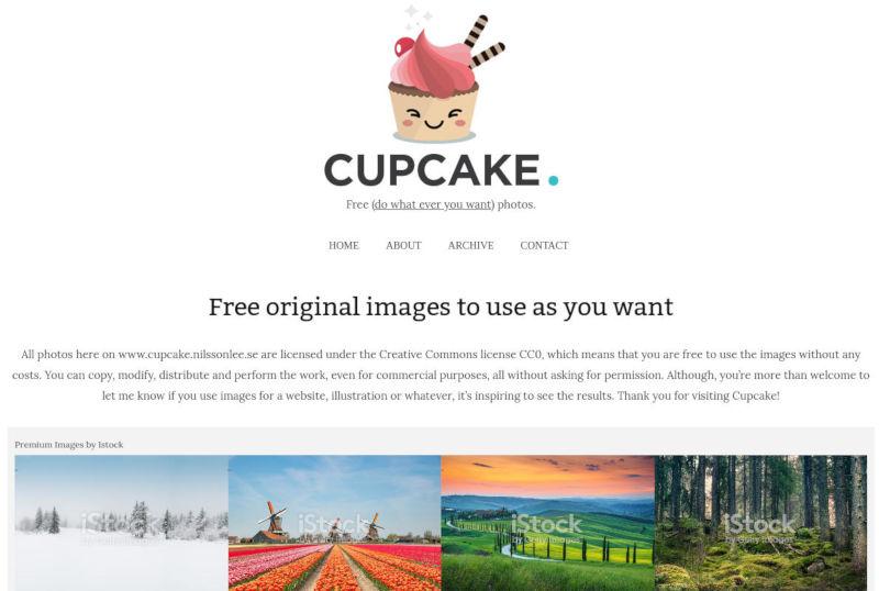 cupcake gratis stock foto's schermafbeelding