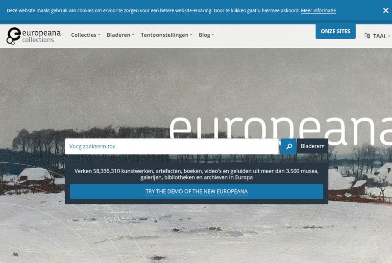 europeana schermafbeelding