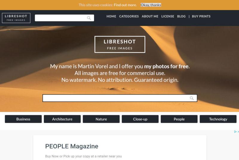 libreshot gratis stock foto's schermafbeelding